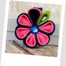 Pink Rasberry Kanzashi Bloom Hair Clip