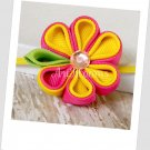 Pink Lemonade Kanzashi Headband