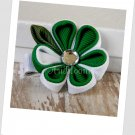 St Patrick's Day Kanzashi Bloom