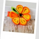 Orange Citrus Kanzashi Bloom Hair Clip