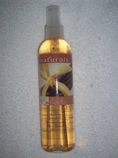Avon Naturals Body Vanilla Moisturizing Body Spray 8.4 fl oz