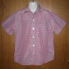 Boys Arrow USA 1851 Red and White Dress Shirt Size M(5)