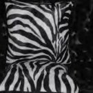 Two Zebra Faux Fur Throw Pillow, Pillows, New