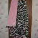 Pink & zebra faux fur throw blanket