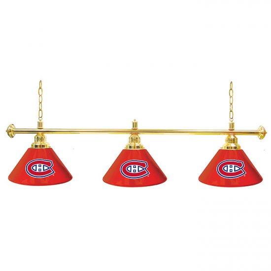 NHL Montreal Canadiens 60 Inch 3 Shade Billiard Lamp