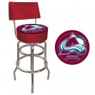 NHL Colorado Avalanche Padded Bar Stool with Back