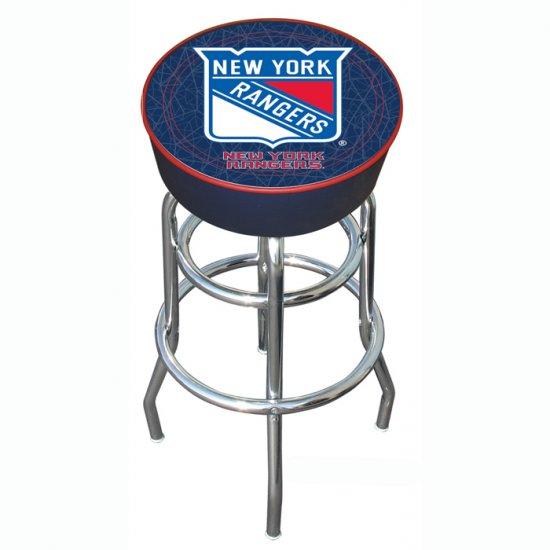 NHL New York Rangers Padded Bar Stool