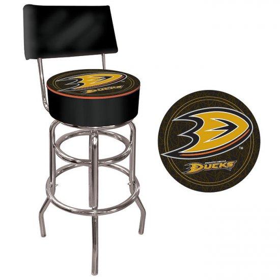 NHL Anaheim Ducks Padded Bar Stool with Back