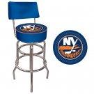 NHL New York Islanders Padded Bar Stool with Back