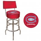 NHL Montreal Canadians Padded Bar Stool with Back