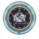 NHL Los Angeles Kings Neon Clock - 14 inch Diameter