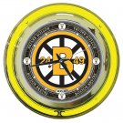 NHL Vintage Boston Bruins Neon Clock - 14 inch Diameter