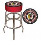 NHL Vintage Chicago Blackhawks Padded Bar Stool