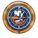 NHL New York Islanders Neon Clock - 14 inch Diameter