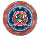 NHL Florida Panthers Neon Clock - 14 inch Diameter