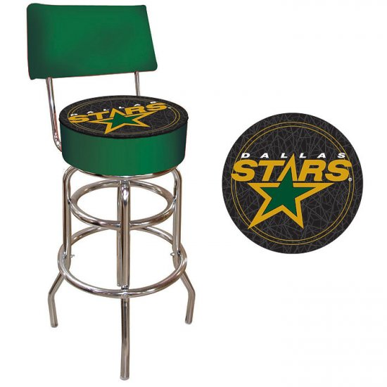 NHL Dallas Stars Padded Bar Stool with Back