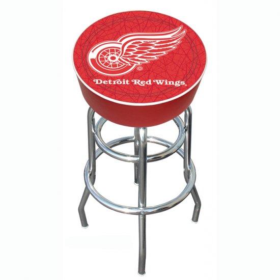 NHL Detroit Redwings Padded Bar Stool