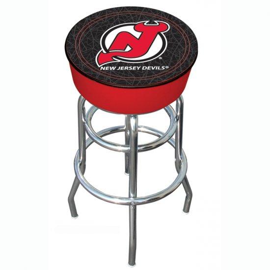 NHL New Jersey Devils Padded Bar Stool