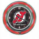 NHL New Jersey Devils Neon Clock - 14 inch Diameter