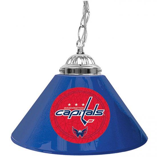 NHL Washington Capitals 14 Inch Single Shade Bar Lamp