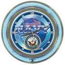 United States Navy Neon Clock - 14 inch Diameter