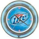 Miller Lite 14 Inch Neon Wall Clock