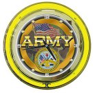 United States Army Neon Clock - 14 inch Diameter