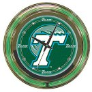 Tulane University Neon Clock - 14 inch Diameter
