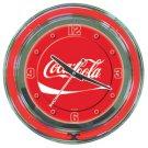 Coca Cola Neon Clock - 14 inch Diameter
