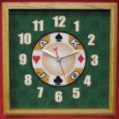 12x12 Square Casino Wall Clock Oak