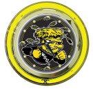 Wichita State University Neon Clock - 14 inch Diameter