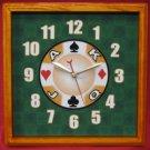12x12 Square Casino Wall Clock Mahogany
