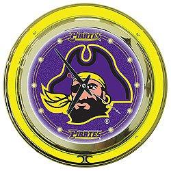 East Carolina University Neon Clock - 14 inch Diameter
