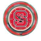North Carolina State Neon Clock - 14 inch Diameter