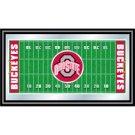 Ohio State Framed Football Field Mirror