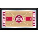 Ohio State Framed Basketball Court Mirror