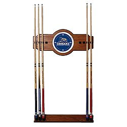 BYU 2 Piece Wood and Mirror Wall Cue Rack