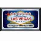 Las Vegas Framed Mirror