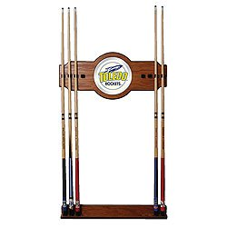 University of Toledo Wood & Mirror Wall Cue Rack