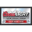 Personalized Coors Light Black Wood Framed Mirror - BIG