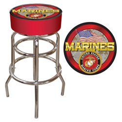 US Marine Corp Padded Bar Stool