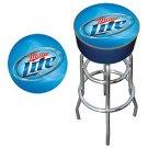 Miller Lite Logo Padded Bar Stool