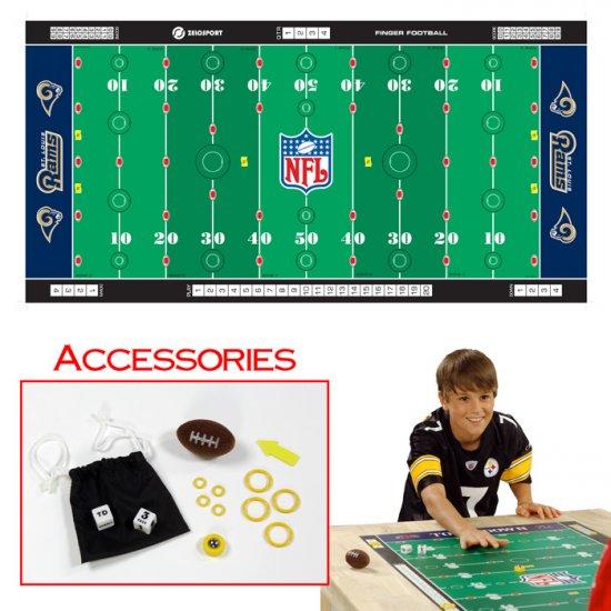 NFLR Licensed Finger FootballT Game Mat - Rams