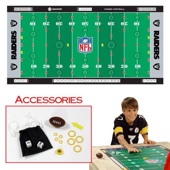 NFLR Licensed Finger FootballT Game Mat - Raiders