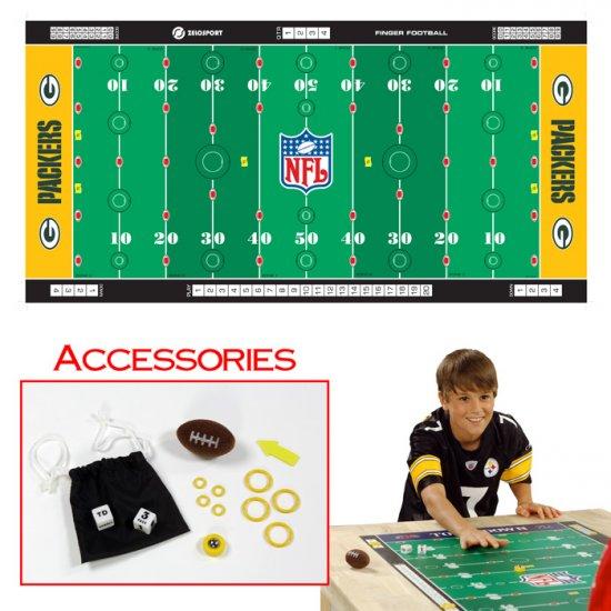 NFLR Licensed Finger FootballT Game Mat - Packers
