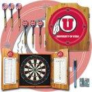 University of Utah Dart Cabinet with Darts and Board