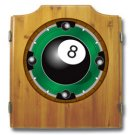 8-Ball Dart Cabinet includes Darts and Board