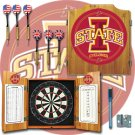 Iowa State University Dart Cabinet with Darts and Board