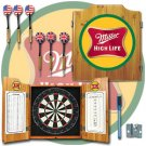Miller High Life Dart Cabinet Includes Darts and Board
