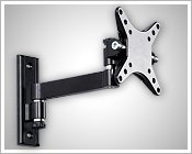"""LCD TV monitor wall mount bracket for 10""""-23"""" screen w/9"""" arm"""